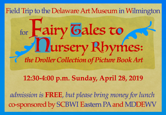 Please join us on Saturday April, 28th at the Delaware Art Museum in Wilmington to see